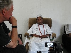 Interviewing Gen. Joseph Achuzia